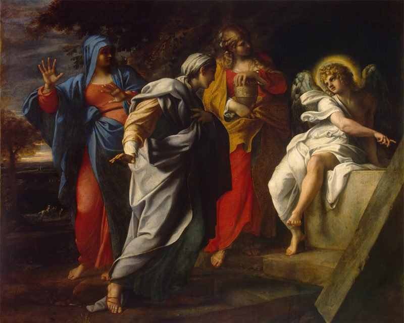 """""""Holy Women at Christ's Tomb"""" by Annibale Carracci, circa 1590. Image courtesy of Creative Commons"""