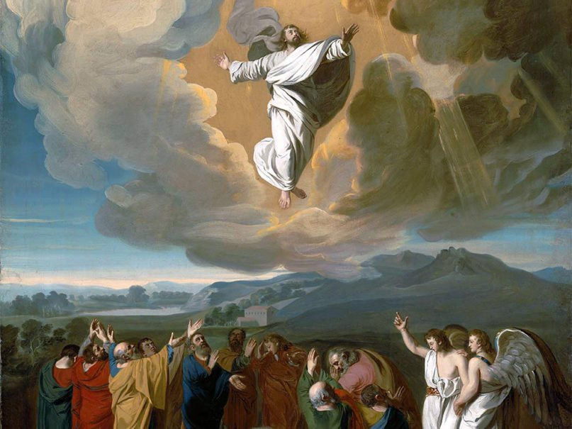 """Jesus' ascension to Heaven depicted by John Singleton Copley in """"Ascension"""" (1775). Image courtesy of Creative Commons"""