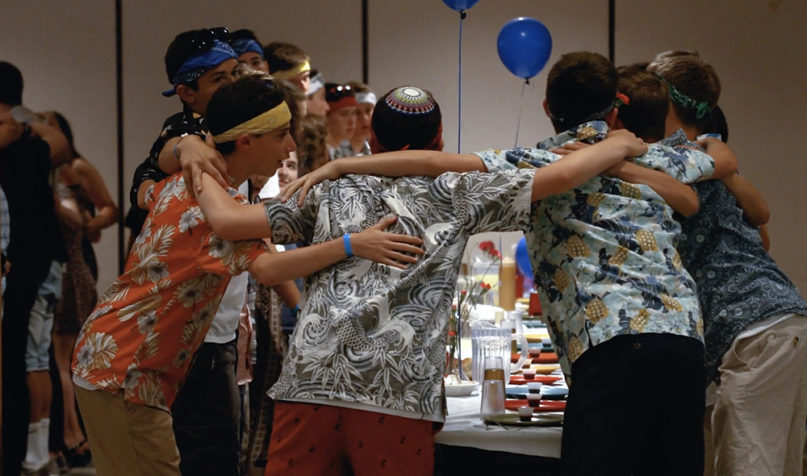 Campers share a moment at URJ Olin-Sang-Ruby Union Institute in Oconomowoc, Wisconsin. Video screengrab