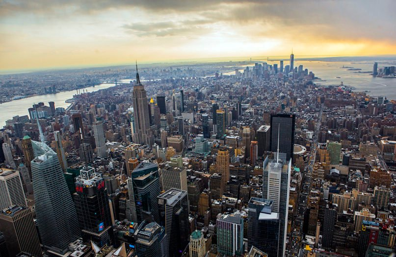 An aerial view of the Manhattan skyline.  Photo by Anthony Quintano/Creative Commons