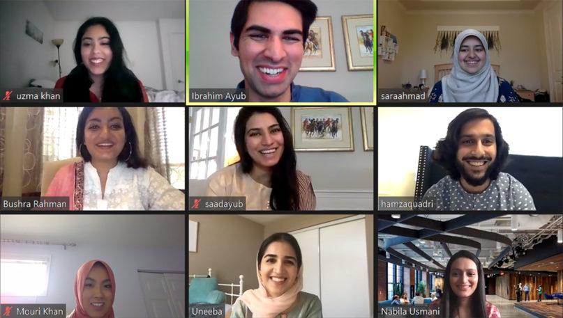 People participate in a weekly Ramadan bazaar virtual meeting hosted on Zoom by Remote Ramadan 2020. Screengrab courtesy of Ibrahim Ayub