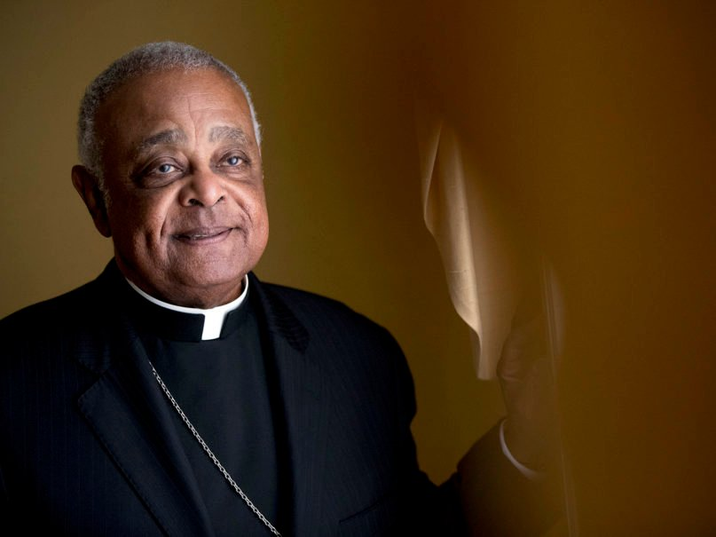 Archbishop of Washington Wilton Gregory poses for a portrait following Mass at St. Augustine Church in Washington, Sunday, June 2, 2019. Gregory, to be made a cardinal in November 2020, is the first African American to lead the Archdiocese of Washington. (AP Photo/Andrew Harnik)