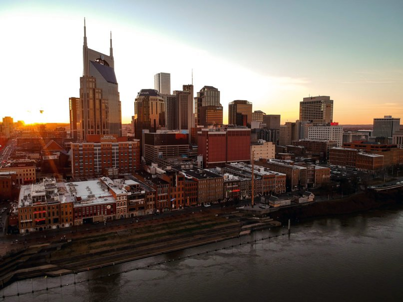 An aerial view of downtown Nashville. Photo by Austin Wills/Unsplash/Creative Commons