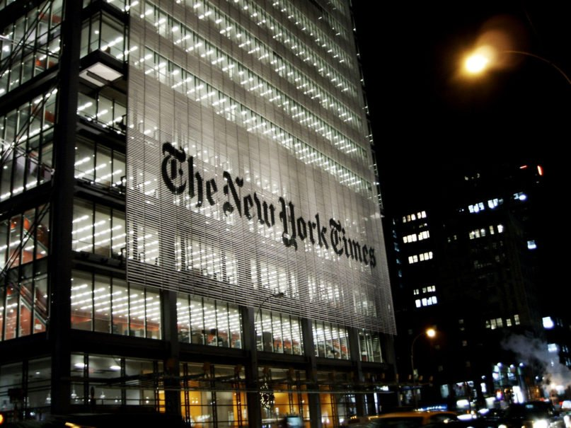 The New York Times building in Manhattan. Photo by JavierDo/Creative Commons
