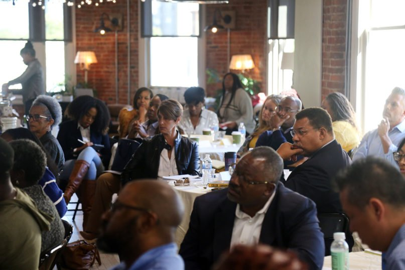 Participants in the Theology and Racialized Policing Cohort Program meet at the Howard University School of Divinity, Oct. 24, 2019, in Washington, D.C. Courtesy photo