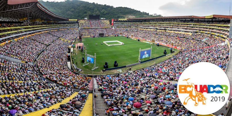 """The Jehovah's Witnesses 2019 """"Love Never Fails"""" International Convention in Guayaquil, Ecuador, in June 2019. Photo courtesy of Jehovah's Witnesses"""