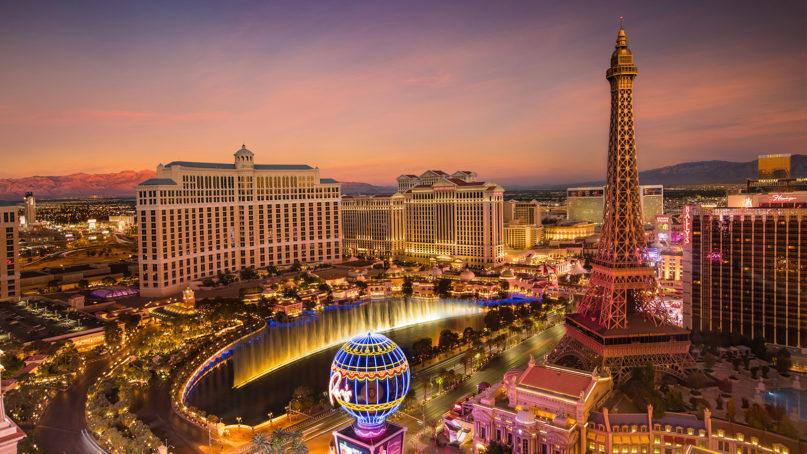 The Las Vegas Strip at dusk. Photo by Stephen Leonardi/Unsplash/Creative Commons