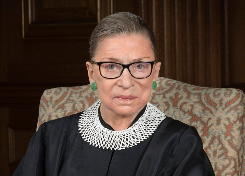 An official portrait of U.S. Supreme Court Associate Justice Ruth Bader Ginsburg in 2016. Photo courtesy of Creative Commons