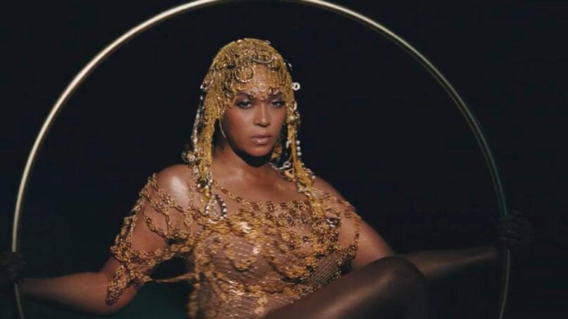 """Beyoncé in her new visual album """"Black Is King."""" Image via Disney+"""