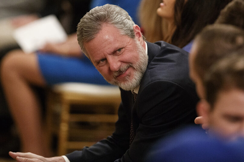 Jerry Falwell Jr. resigned after 13 years serving as president of Liberty University. (AP Photo/Evan Vucci, File)