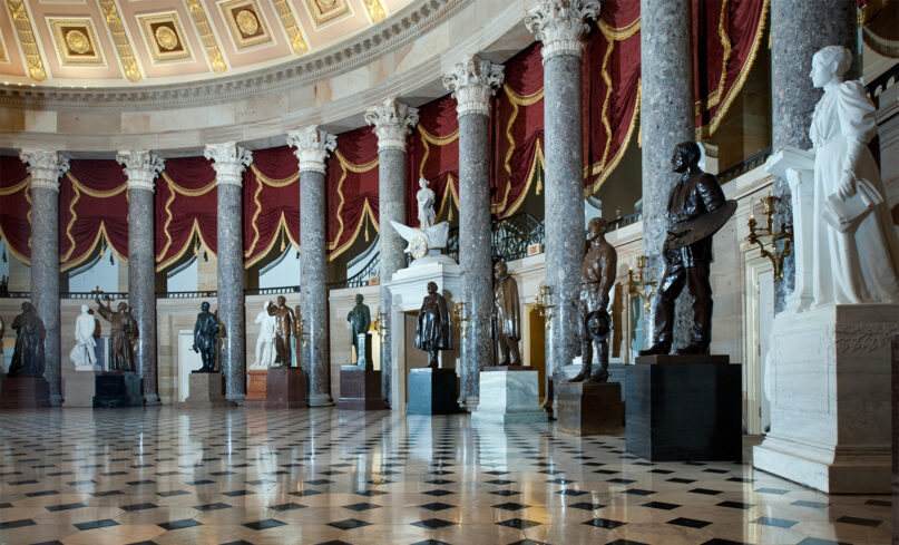 National Statuary Hall in the U.S. Capitol. Photo by Architect of the Capitol/Creative Commons