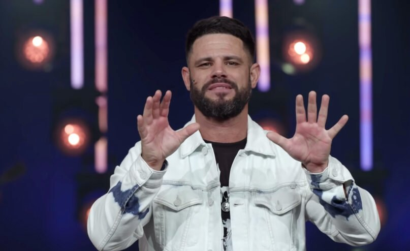 """Pastor Steven Furtick delivers a sermon titled """"I'm Not What I Thought"""" on Aug. 16, 2020, at Elevation Church in North Carolina. Video screengrab"""