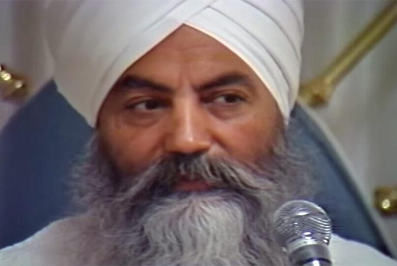 Yogi Bhajan speaks in Los Angeles on Feb. 20, 1984. Video screengrab