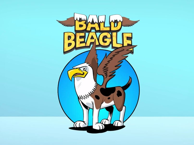 """The logo for the new """"Bald Beagle"""" series. Video screengrab"""