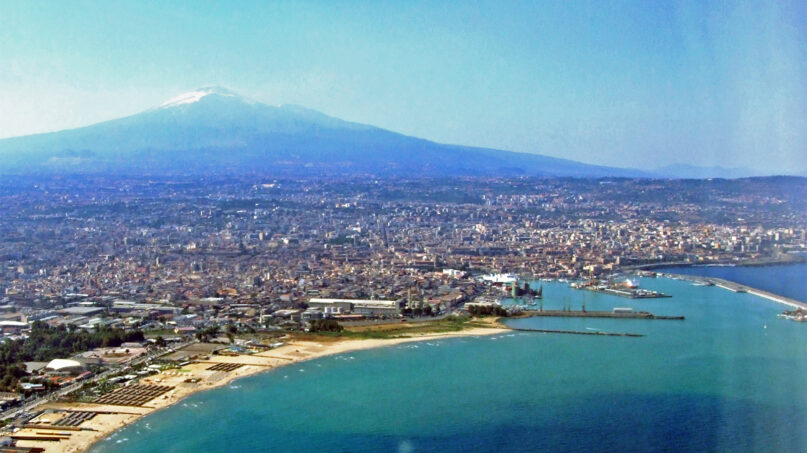 The port and skyline of Catania, Sicily, Italy. Photo by Michael Giorgio Castielli/Creative Commons