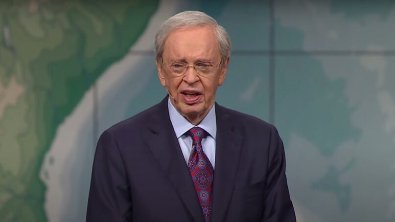 Pastor Charles Stanley preaches. Video screengrab via In Touch Ministries