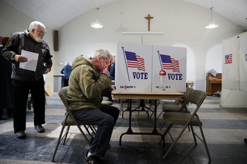 Primary voters at St. Joseph Church in Dover, New Hampshire, on Feb. 11, 2019. (Craig F. Walker/Globe Staff via Getty Images)