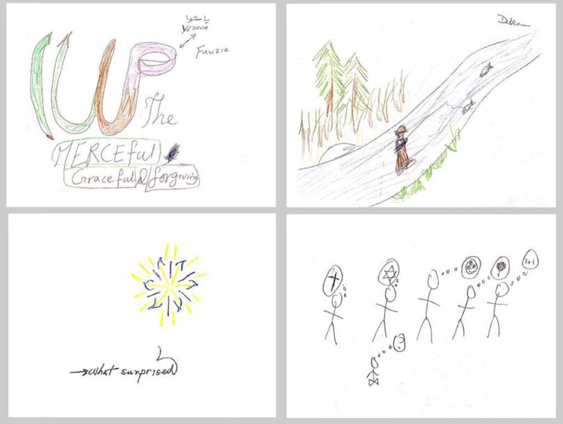 """Drawings made for the study, """"What Does Spirituality Mean to Us?"""" Images courtesy of Fetzer Institute"""