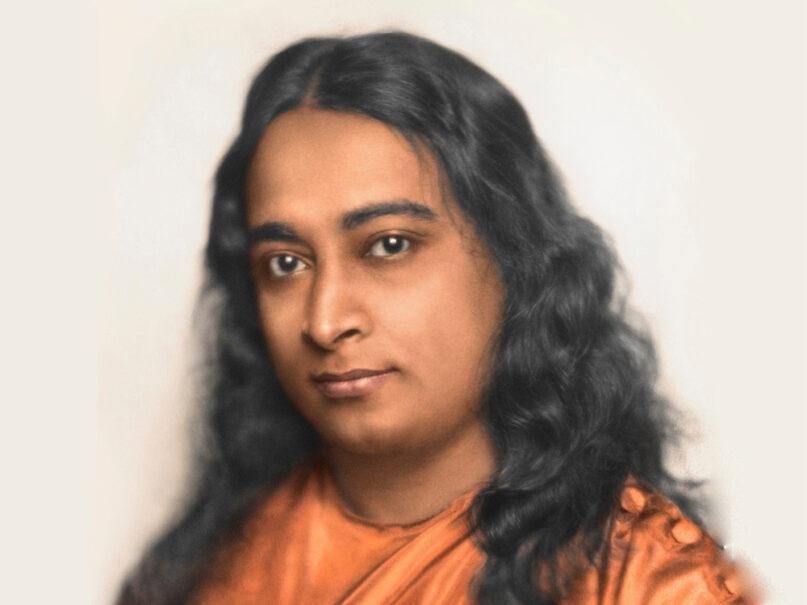A colorized photo of Paramahansa Yogananda, circa 1920. Photo via Yogananda.org