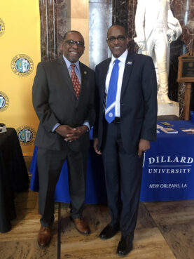 President C. Reynold Verret of Xavier University of Louisiana, left, and President Walter M. Kimbrough of Dillard University. Courtesy photo