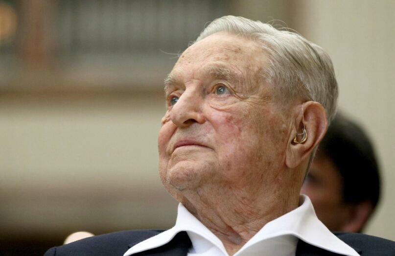 In this June 21, 2019, file photo, George Soros, founder and chair of the Open Society Foundations, attends the Joseph A. Schumpeter award ceremony in Vienna. Misinformation about billionaire liberal philanthropist Soros remains a fixture of potentially anti-Semitic tweets directed at Jewish members of Congress, according to a new report from the Anti-Defamation League. (AP Photo/Ronald Zak, File)