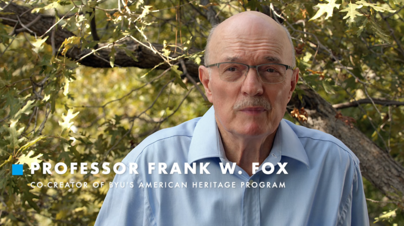 BYU professor emeritus Frank W. Fox outlines his reasons for not voting for Donald Trump. (YouTube screenshot)
