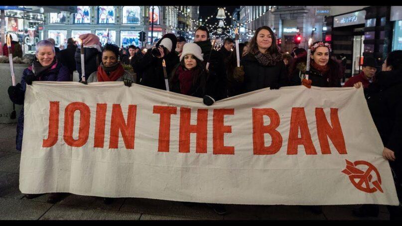 Nobel Peace Prize torchlight procession, Dec 10, 2017. Photo: Ralf Schlesener