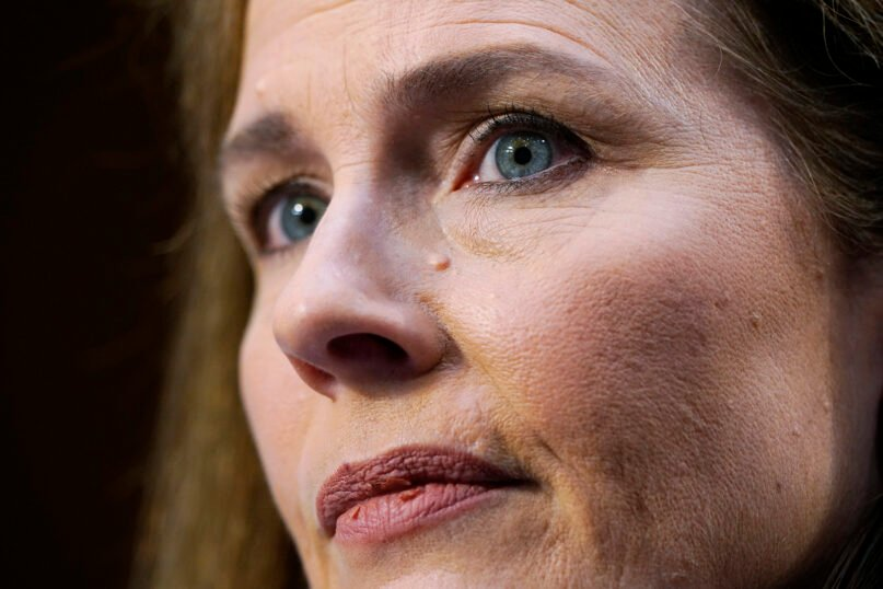 Supreme Court nominee Amy Coney Barrett listens during a confirmation hearing before the Senate Judiciary Committee on Oct. 14, 2020, on Capitol Hill in Washington. (AP Photo/Susan Walsh, Pool)