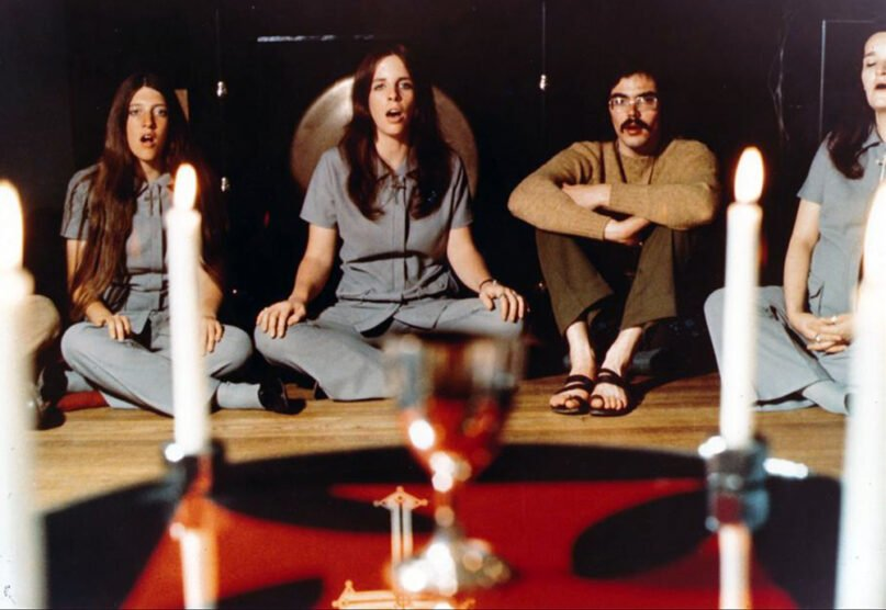 """A ritual scene from """"Sympathy for the Devil: The Story of the Process Church of the Final Judgment'' depicts the cult group's Boston chapter. Courtesy image"""