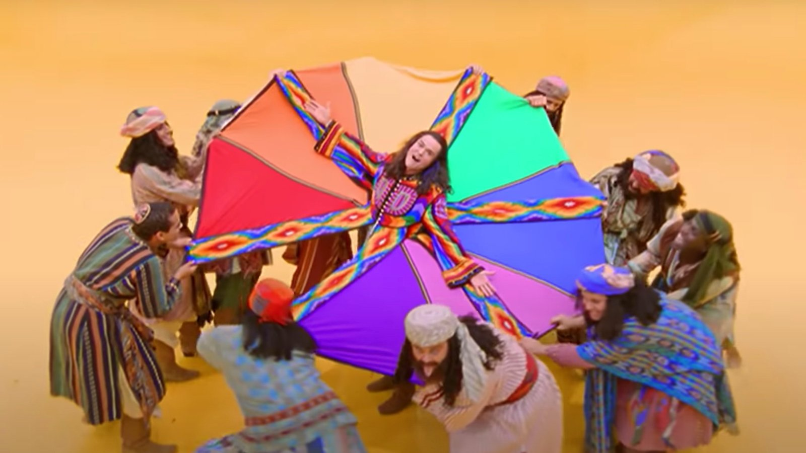 'Give Me My Colored Coat': Donny Osmond performs wedding in amazing technicolor dreamcoat