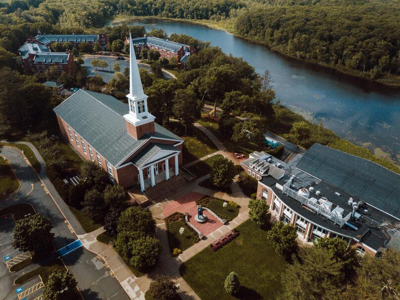 An aerial view of Gordon College in Wenham, Massachusetts, in summer 2018. Photo by Mark Spooner/Gordon College