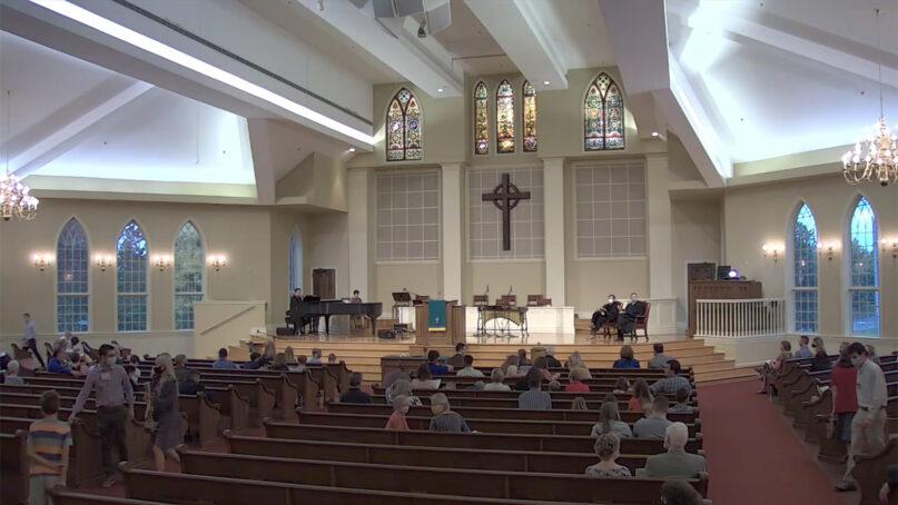 Tates Creek Presbyterian Church in Lexington, Kentucky, on Oct. 11, 2020. Video screengrab