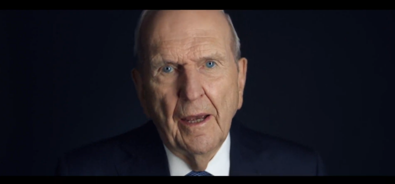 Pres. Russell M. Nelson of the Church of Jesus Christ of Latter-day Saints, in a video message Friday, encouraged people to flood social media for a week with their expressions of gratitude. (YouTube)