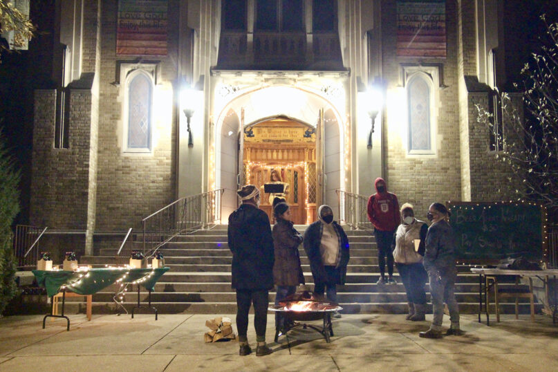 Members of Gilead Church Chicago distribute beer Advent