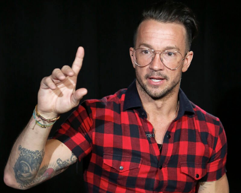 Carl Lentz appears during an interview on Oct. 23, 2017, in New York. Lentz, the pastor from global megachurch Hillsong, who once ministered to Justin Bieber and a bevy of other celebrities and sports stars, was fired. (AP Photo/Bebeto Matthews, File)