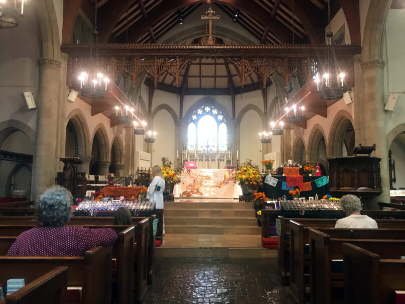 The All Saints Episcopal Church in Pasadena, California, opened its sanctuary for Election Day after being closed for seven months. RNS photo by Alejandra Molina