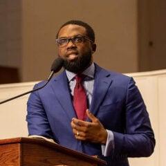 Pastor Charlie Dates speaks at Progressive Baptist Church in Chicago. Photo courtesy of Progressive Baptist Church
