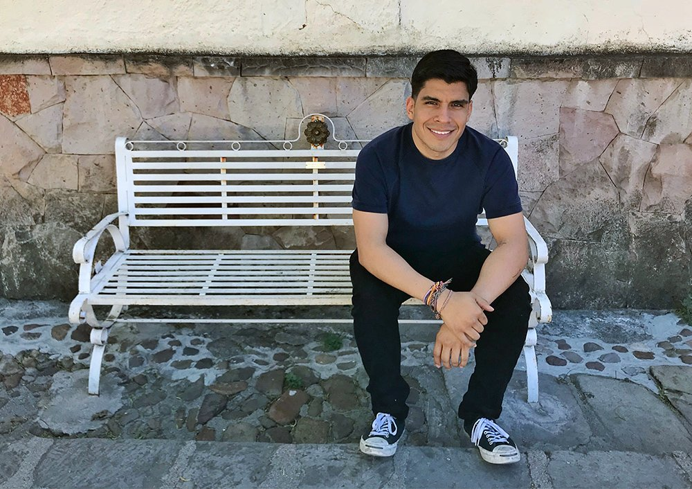 """Eder Díaz Santillan hosts the bilingual podcast """"De Pueblo Católico & Gay,"""" where he openly discusses his identity as a Latino and gay Catholic man. Courtesy photo"""