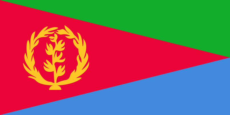 The national flag of Eritrea. Image courtesy of Creative Commons