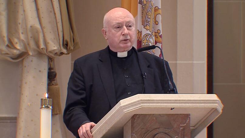 The Rev. George William Rutler in 2019. Video screengrab
