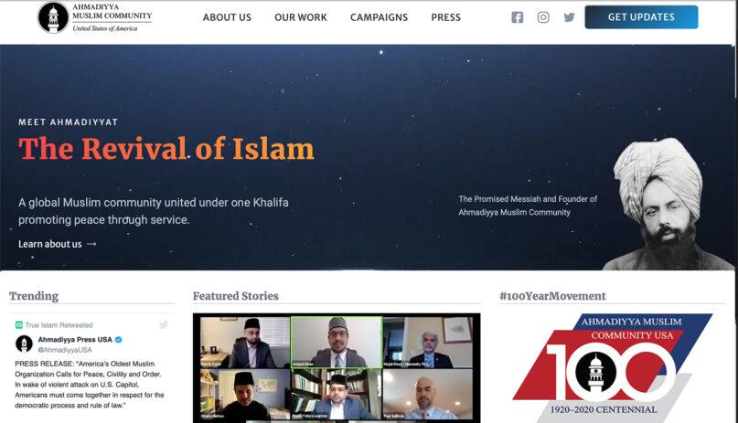The Ahmadiyya Muslim Community website TrueIslam.com. Screengrab