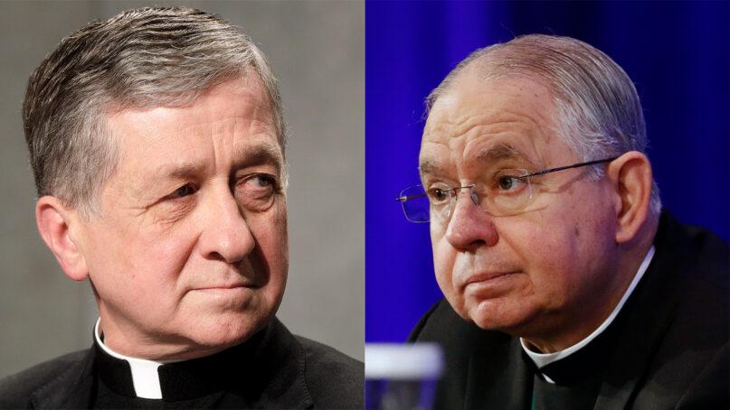 Cardinal Blase Cupich, left, and Archbishop Jose Gomez. (AP Photos)