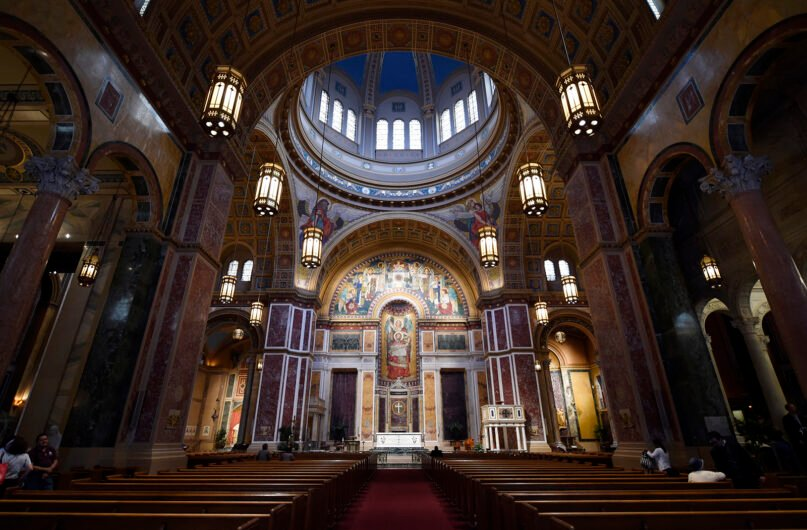 The interior of the Cathedral of St. Matthew the Apostle in Washington on June 30, 2015. (AP Photo/Susan Walsh)