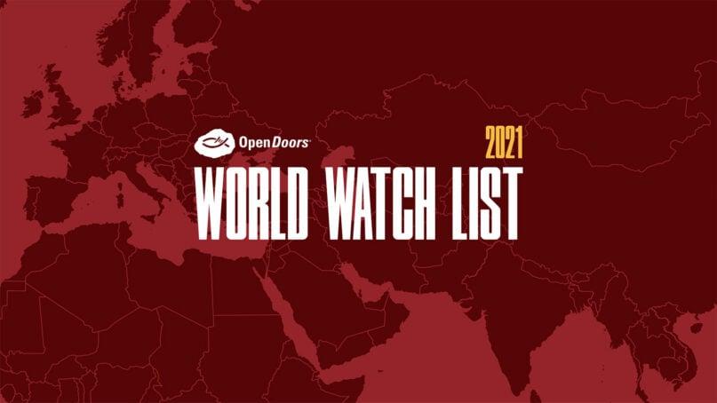 World Watch List 2021. Image courtesy of Open Doors