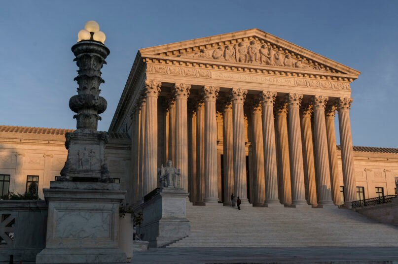 The Supreme Court is seen at sundown in Washington on Nov. 6, 2020. (AP Photo/J. Scott Applewhite)