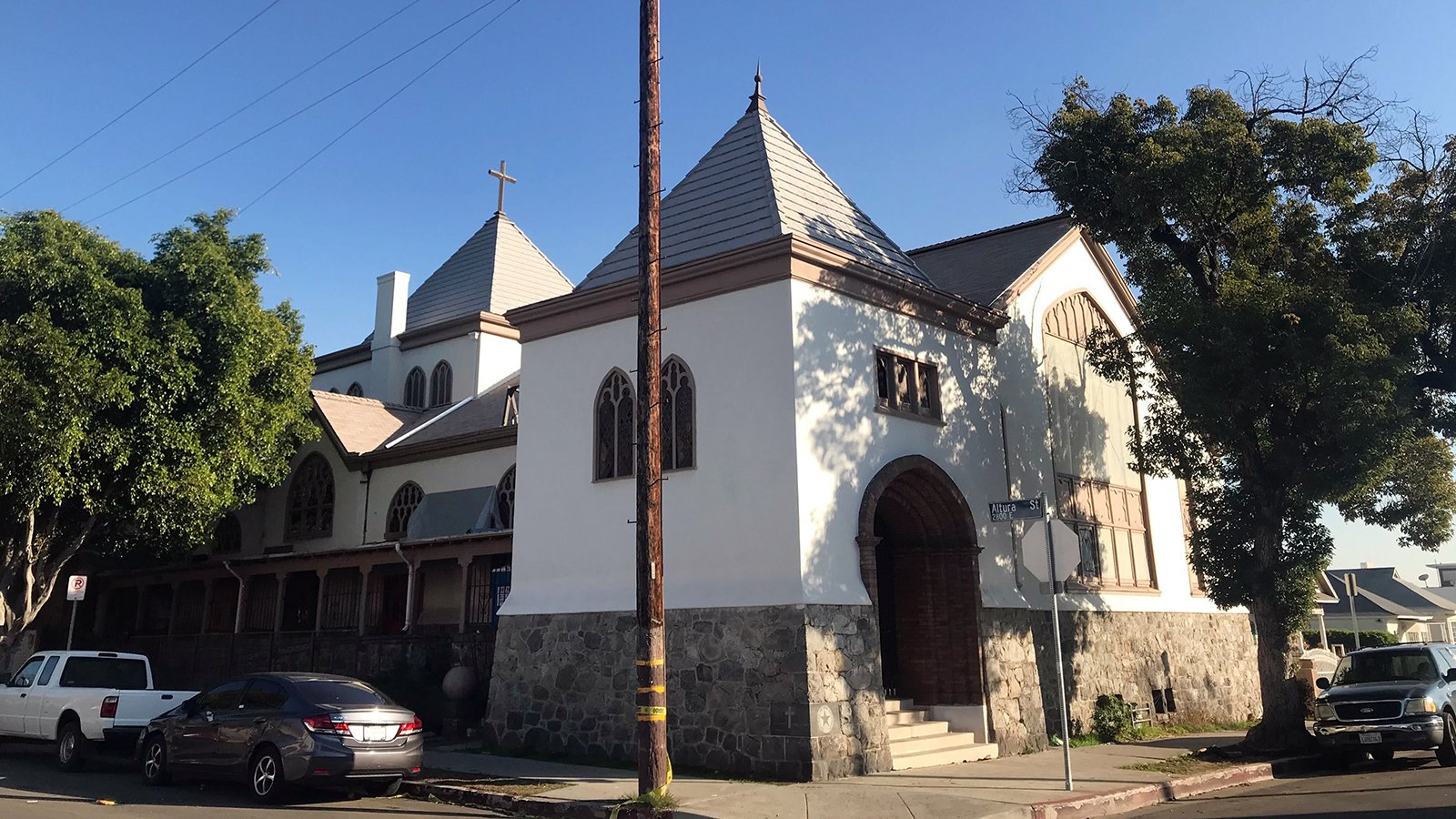 The Church of the Epiphany, in the Lincoln Heights neighborhood of Los Angeles, recently earned a spot on the National Register of Historic Places. The church is known as the birthplace of the Chicano movement in the 1960s. Photographed on Thursday, Feb. 4, 2021. RNS photo by Alejandra Molina