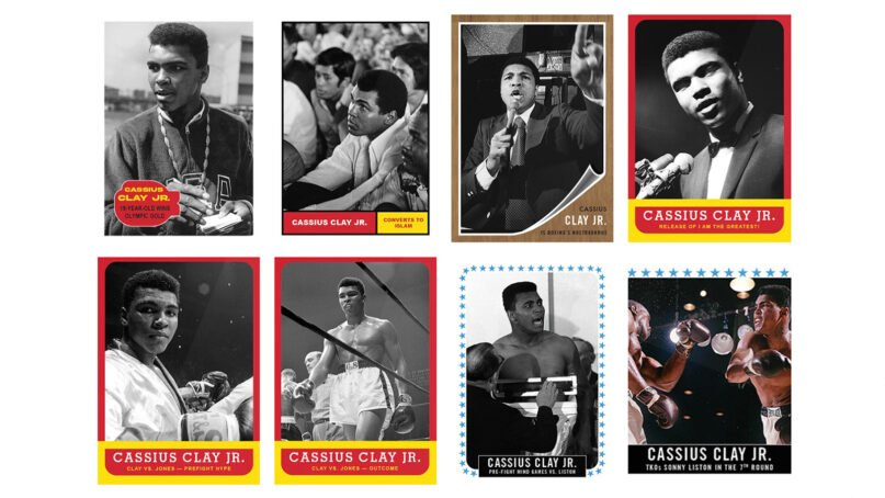 """Some of the cards in the Topps series """"Muhammad Ali: The People's Champ."""" Images courtesy of Topps"""