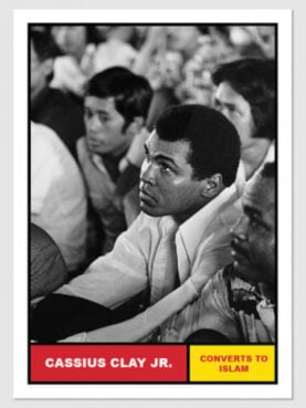 """The second card in the Topps series, """"Muhammad Ali: The People's Champ."""" Images courtesy of Topps"""