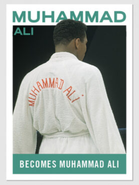 """The tenth card in the Topps series, """"Muhammad Ali: The People's Champ."""" Images courtesy of Topps"""