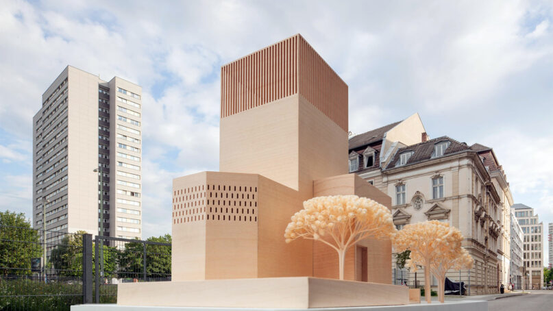 An artistic rendering of the House of One design in Berlin. Design by Kuehn Malvezzi, photo by Ulruich Schwarz, courtesy House of One